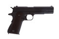 American legendary pistol on white background military model Royalty Free Stock Photo