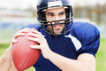 American male football player portrait of Royalty Free Stock Image