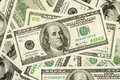 American money in $100, $50 and $20 bills Royalty Free Stock Photo