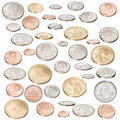 American Money Coins Isolated Royalty Free Stock Photo