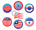 American national banners and symbols set for election concept design Royalty Free Stock Photos