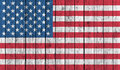 American national flag on old wood background Royalty Free Stock Photo