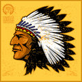 American native chief head Royalty Free Stock Photo