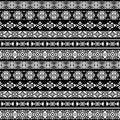 American nativity aztec, tribal peruvian vector seamless pattern Royalty Free Stock Photo