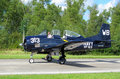 American NAVY fighter T28 Trojan Air Bear Royalty Free Stock Images