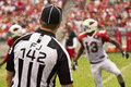 American NFL Football Field Judge Official