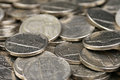 American nickels a high resolution close up image of Stock Images