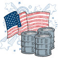 American oil dependence vector Royalty Free Stock Images