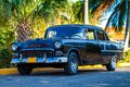 American oldtimer in cuba parked Stock Photo