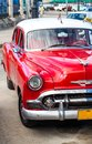 American oldtimer in cuba parked havana Stock Photography
