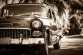American Oldtimer in Cuba Varadero Royalty Free Stock Images