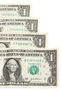 American one dollar bills Royalty Free Stock Photo
