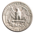 American one quarter coin isolated Royalty Free Stock Photo