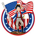 American patriot emblem glossy shiny icon collection set Stock Photos