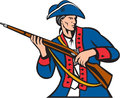 American Patriot Militia Musket Retro Royalty Free Stock Photo