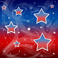 American patriotic background an with predominant use of red and blue colors Royalty Free Stock Image