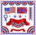American patriotic elements Stock Photos