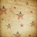 American patriotic ornament with stars Stock Images