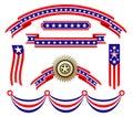 American patriotic ribbons Stock Image