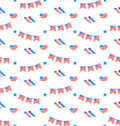 American patriotic seamless pattern us national colors illustration Royalty Free Stock Photo