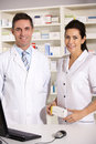 American pharmacists at work Stock Images