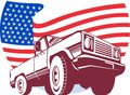 American Pickup truck stars Stock Photography