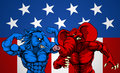 American Politics Elephant Donkey Fight Royalty Free Stock Photo