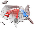 American pride country national patriotism united states the words on a map of the of america to represent growing patriotrism and Stock Photos