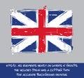 American Revolution British Flag Flat - Artistic Brush Strokes a