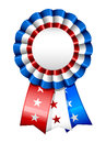American ribbon a blank star spangled red white and blue badge Stock Images