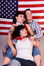 American Rockabilly firends. Royalty Free Stock Image