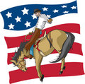 American Saddle Bronc rider Royalty Free Stock Images