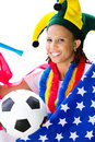 American soccer fan Royalty Free Stock Image