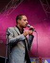 American star vocalist Jose James Stock Photo