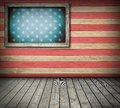 American symbol interior room empty with space for your idea Stock Images