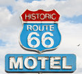 American syule of life motel spirit in historic road Royalty Free Stock Photo