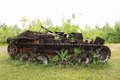 American tank world war ii peleliu island palau Stock Photo