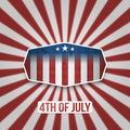 American 4th of July Independence Day Banner