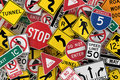American Traffic Signs Stock Photo
