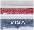 American US visa Royalty Free Stock Image