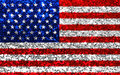 American USA fabric glitter flag, sparkle stars and stripes Royalty Free Stock Photo