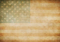 American or usa old paper flag background grunge Stock Image