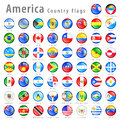 American vector flag button set hi detail shiny buttons with all country flags every is isolated on it's own layer Royalty Free Stock Photo