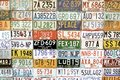American vehicle number plates Stock Photography