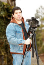 American video reporter Royalty Free Stock Images