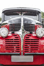 American vintage car, close-up of Dodge front detail Royalty Free Stock Photo