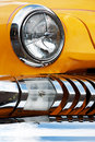 American Vintage Car, Close-up of Front Detail Royalty Free Stock Photo