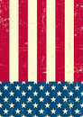 American vintage flag Royalty Free Stock Image