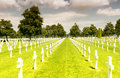 American War Cemetery at Omaha Beach, Normandy (Colleville-sur-M Royalty Free Stock Photo
