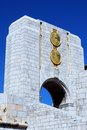 American war memorial gibraltar with gold plaques united kingdom western europe Stock Images